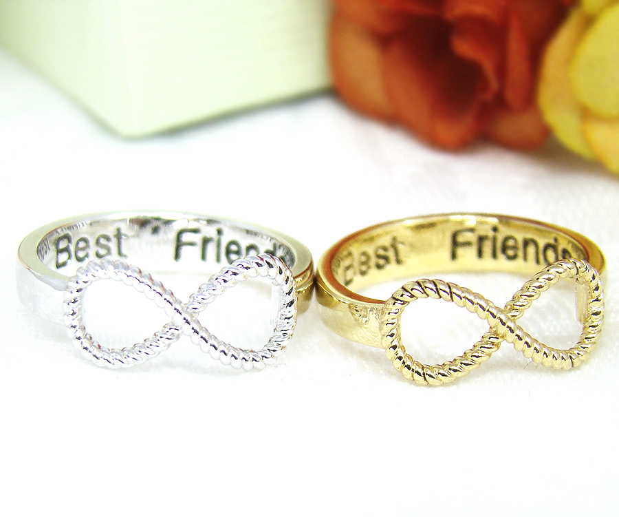 I Love You Engraved Infinity Ring