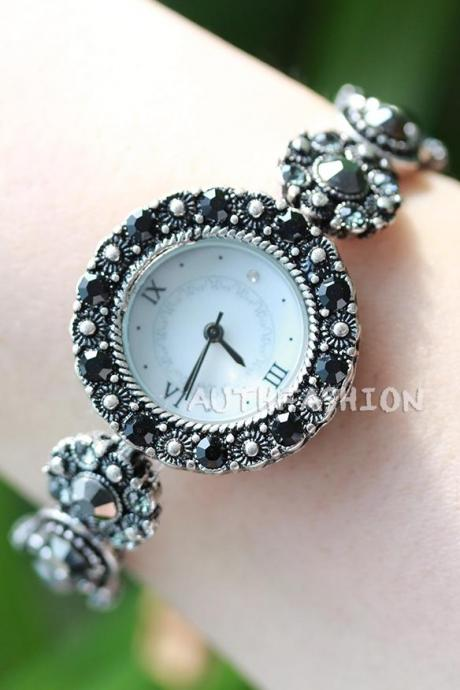 High Quality Stretch Watch Bracelet Elastic Band Strap Fashion Bangle Cuff WB06